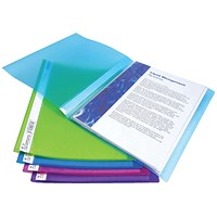 Rapesco Flexi Display Book 10 Pocket A4 Assorted (Pack of 10)