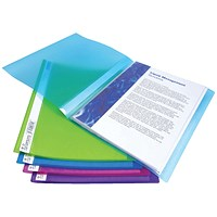 Rapesco Flexi Display Book 40 Pocket A4 Assorted (Pack of 10)