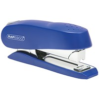 Rapesco Luna Half Strip Stapler Heavy Duty Blue 0237