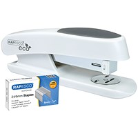 Rapesco Eco Sting Ray Half Strip Stapler White