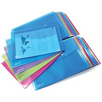 Rapesco Foolscap Popper Wallet Bright (Pack of 20)