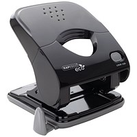 Rapesco ECO X5-30ps Less Effort 2 Hole Punch Black