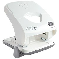 Rapesco ECO X5-40ps Less Effort 2 Hole Punch White