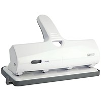Rapesco ALU 40 Heavy Duty 4 Hole Punch Capacity 40 Sheets White