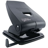 Rapesco 835P Heavy-duty 2-Hole Punch, Black, Punch capacity: 40 Sheets