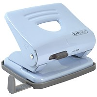 Rapesco 825 2 Hole Metal Punch Capacity 25 Sheets Powder Blue