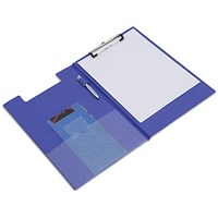 Rapesco Foldover Clipboard with Interior Pocket Foolscap Blue