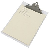 Rapesco Heavy Duty Clipboard Frosted Foolscap Transparant