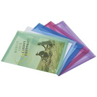 Rapesco A4 ECO Popper Wallets, Assorted, Pack of 5