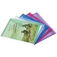 Rapesco Eco PP Popper Wallet A3 Assorted (Pack of 5)
