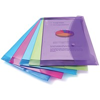 Rapesco Popper Wallet Foolscap Assorted (Pack of 5)