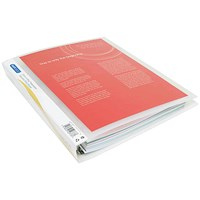 Rapesco Presentation Four-Ring Binder 25mm A4 Clear (Pack of 10)