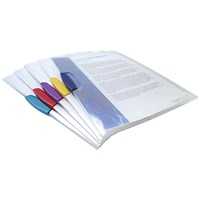 Rapesco A4 Pivot Clip Files, Assorted, Pack of 5