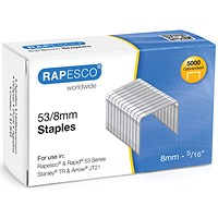 Rapesco 53/8mm Staples Chisel Point (Pack of 5000)