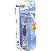 Rapesco Supaclip 60 Dispenser with 8 Clips - Stainless Steel