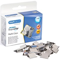 Rapesco Supaclip 60 Refill Clips, Stainless Steel, Pack of 100