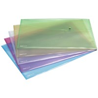 Rapesco A3 Popper Wallets, Assorted, Pack of 5