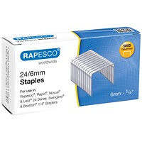 Rapesco 24/6mm Staples Chisel Point (Pack of 5000)