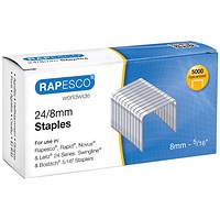 Rapesco 24/8mm Staples Chisel Point (Pack of 5000)