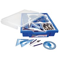 Helix Gratnells Blue School Geometry Class Set