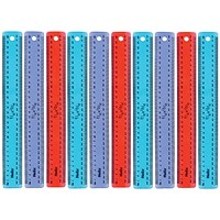Helix Assorted Translucent Flexirule Rulers 30cm (Pack of 10)