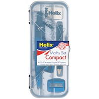 Helix Maths Set Pack of 12 (Handy Plastic Case)