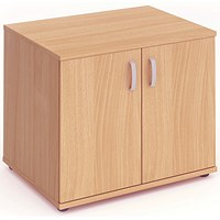 Impulse Desk High Cupboard - Beech