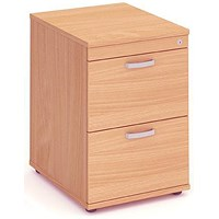 Impulse Foolscap Filing Cabinet, 2-Drawer, Beech