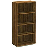 Impulse Medium Tall Bookcase - Walnut
