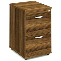Impulse Foolscap Filing Cabinet, 2-Drawer, Walnut