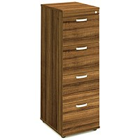 Impulse Foolscap Filing Cabinet, 4-Drawer, Walnut