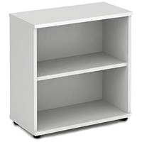 Impulse Low Bookcase - White
