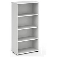 Impulse Medium Tall Bookcase - White
