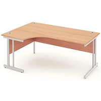 Impulse Corner Desk, Left Hand, 1800mm Wide, Beech, Installed