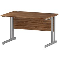 Impulse Rectangular Desk, 1200mm Wide, Walnut