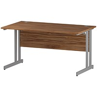 Impulse Rectangular Desk, 1400mm Wide, Walnut