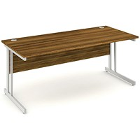 Impulse Rectangular Desk, 1800mm Wide, Walnut, Installed