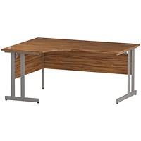 Impulse Corner Desk, Left Hand, 1600mm Wide, Walnut