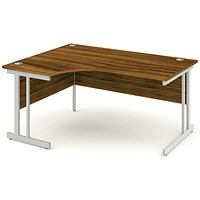 Impulse Corner Desk, Left Hand, 1600mm Wide, Walnut, Installed