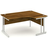 Impulse Corner Desk, Right Hand, 1600mm Wide, Walnut, Installed