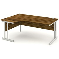Impulse Corner Desk, Left Hand, 1800mm Wide, Walnut, Installed