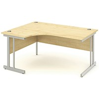 Impulse Corner Desk, Left Hand, 1600mm Wide, Maple, Installed