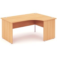 Impulse Panel End Corner Desk, Right Hand, 1800mm Wide, Beech, Installed