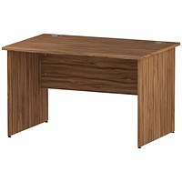 Impulse Panel End Desk, 1200mm Wide, Walnut