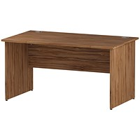 Impulse Panel End Desk, 1400mm Wide, Walnut