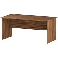 Impulse Panel End Desk, 1600mm Wide, Walnut