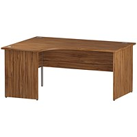 Impulse Panel End Corner Desk, Left Hand, 1600mm Wide, Walnut