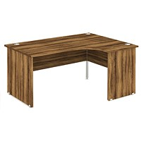 Impulse Panel End Corner Desk, Right Hand, 1600mm Wide, Walnut, Installed