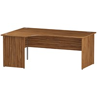 Impulse Panel End Corner Desk, Left Hand, 1800mm Wide, Walnut