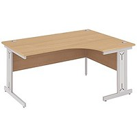 Impulse Plus Corner Desk, Right Hand, 1800mm Wide, Beech, Installed